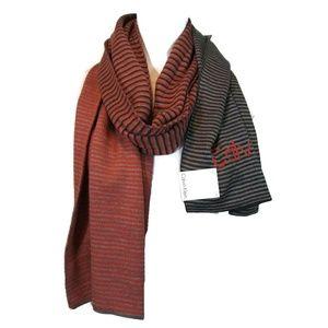 New CALVIN KLEIN Stripe Scarp